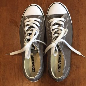 Converse dark gray All Star Chuck Taylor sneakers